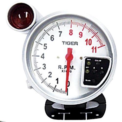Contagiro Rpm Esportivo Led 10 Cores Shift Light 125mm Branc
