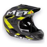 Capacete Bike Full Face Enduro Met Parachute Preto/Amarelo