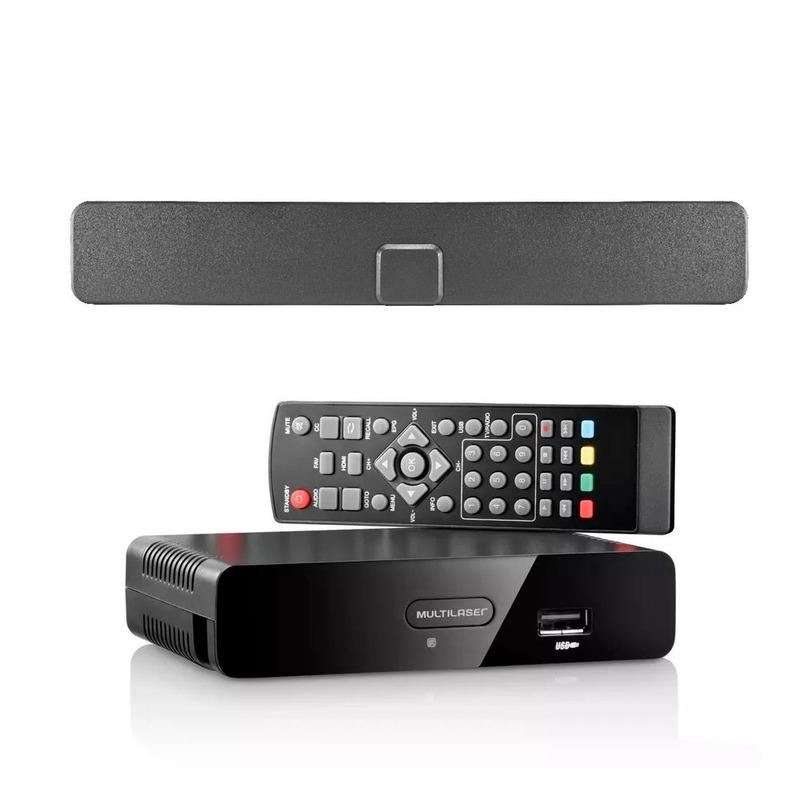 Kit Conversor e Gravador de TV Digital HDMI e Antena Interna TV Analógica e Digital Multilaser