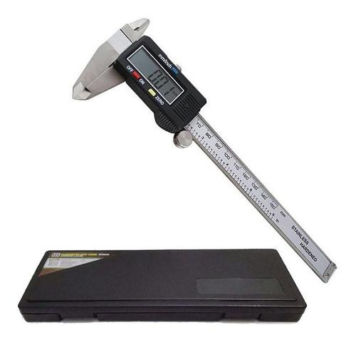 Paquímetro Digital Em Aço + Estojo Original 150 Mm Mtx Original