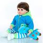 Oferta Bebe Reborn Realista Menino Girafinha Azul Brinde N2