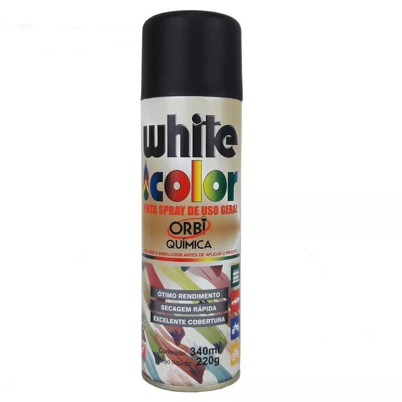 Spray Orbi Tinta Preta Fosca 340ml/220g