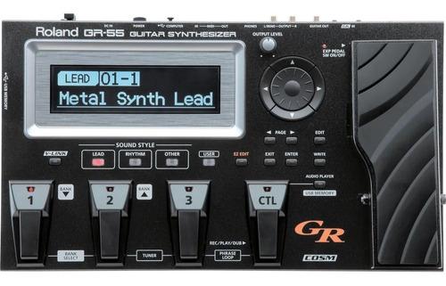 Pedaleira Roland Gr-55 Gk Midi Evolução Sintetizador Guitara Original
