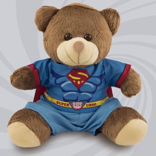 Ursinho Super Herói Fantasia Super Homem 20cm Original