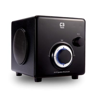 CAIXA DE SOM SPEAKER 2.1 BLUETOOTH E RADIO C3TECH SP-330B BK PRETO