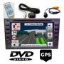 Multimídia Universal Dvd Gps 2 Din Bluetooth Câmera Ré Usb