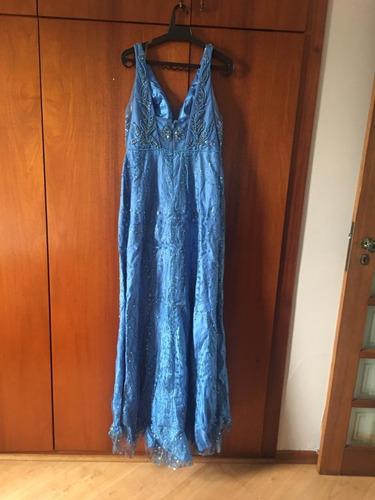 Vestido Longo De Festa, Tam 40, Usado Apenas 1 Vez Original