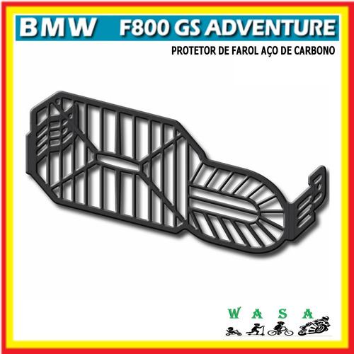 Protetor De Farol Aço Carbono Bmw F800 Gs F800gs Adv Original