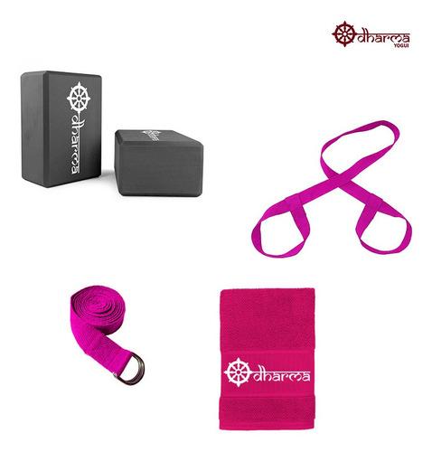 Acessórios Yoga E Pilates Completo Pink