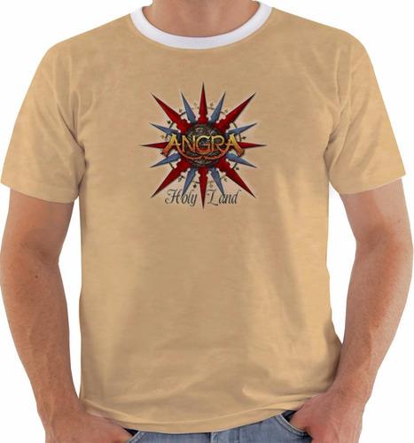 Camiseta Ou Baby Look Ou Regata Angra Holy Land Color Original