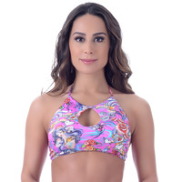 Top Summer Soul Cropped Frente Única Tatto Rosa