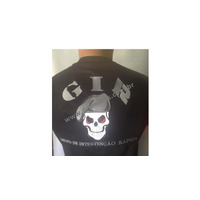 Camisa Preta GIR - Bordada