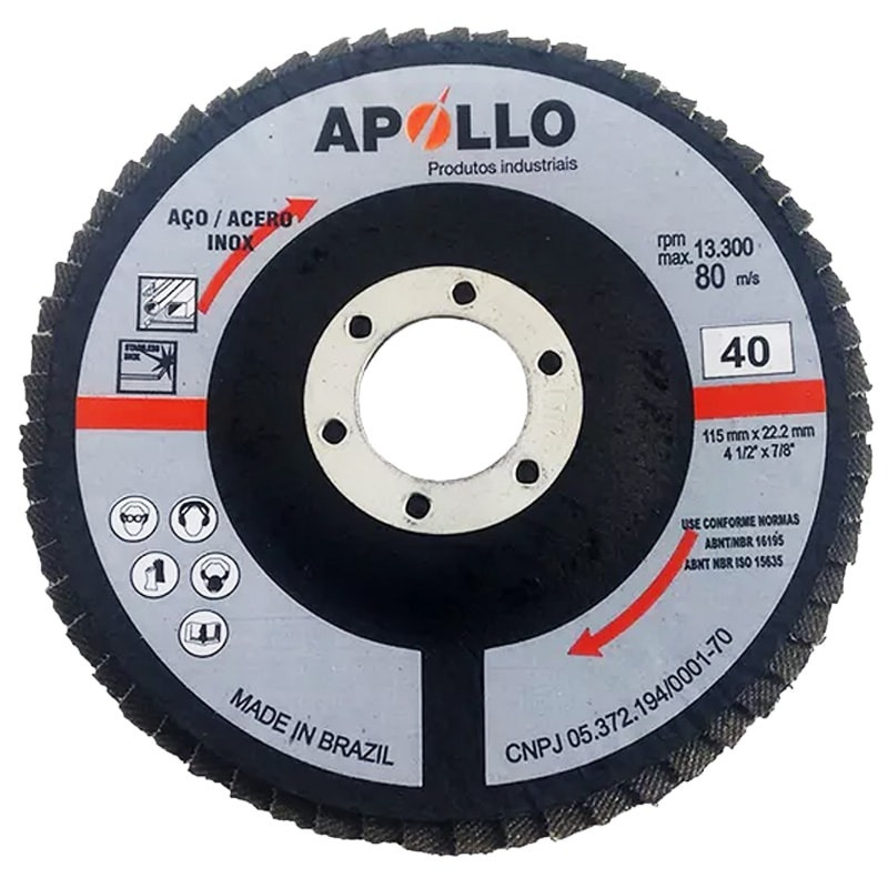 DISCO FLAP 115X22 GR40 FLAPANG BASIC APOLLO