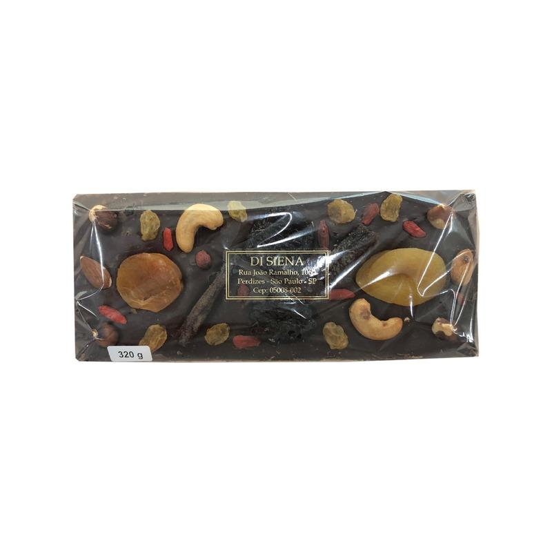 Barra Crocante de Chocolate Ao Leite com Frutas Secas 320g