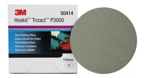 3m Lixa Disco Trizact 1un 3000 Para Polimento De Pintura Original
