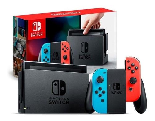 Console Nintendo Switch 32gb Azul Vermelho Néon Lacrado Nfe Original