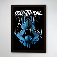 PÔSTER COM MOLDURA - COLD THRONE