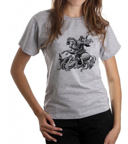 Camisetas Feminina Estampada São Jorge Slc4195 Original