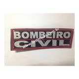 Etiqueta Bordado Bombeiro Civil - U  15 x 5