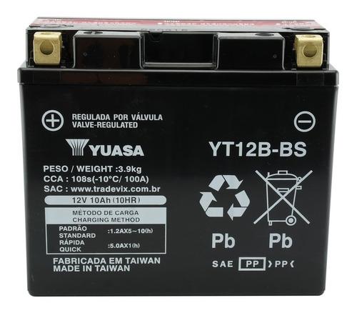 Bateria Yuasa Yt12b-bs Drag Yzf-r1 Tmd850 Tdm900 Zx10 Xj-6 Original