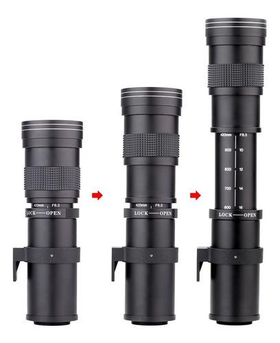 Lente 420-800mm Super Telefoto Zoom Canon T6 T5i T4 T3i 70d Original