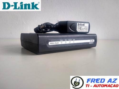 Modem D-link Adsl2 + Router Dsl-500b Geração 2 Com Fonte Original