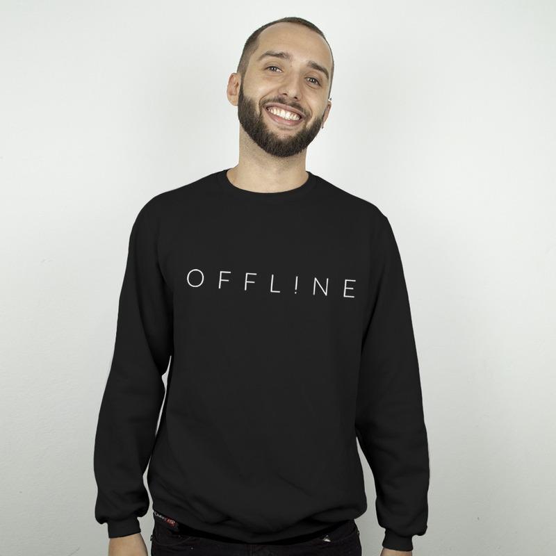 MOLETOM BÁSICO PRETO - OFFLINE