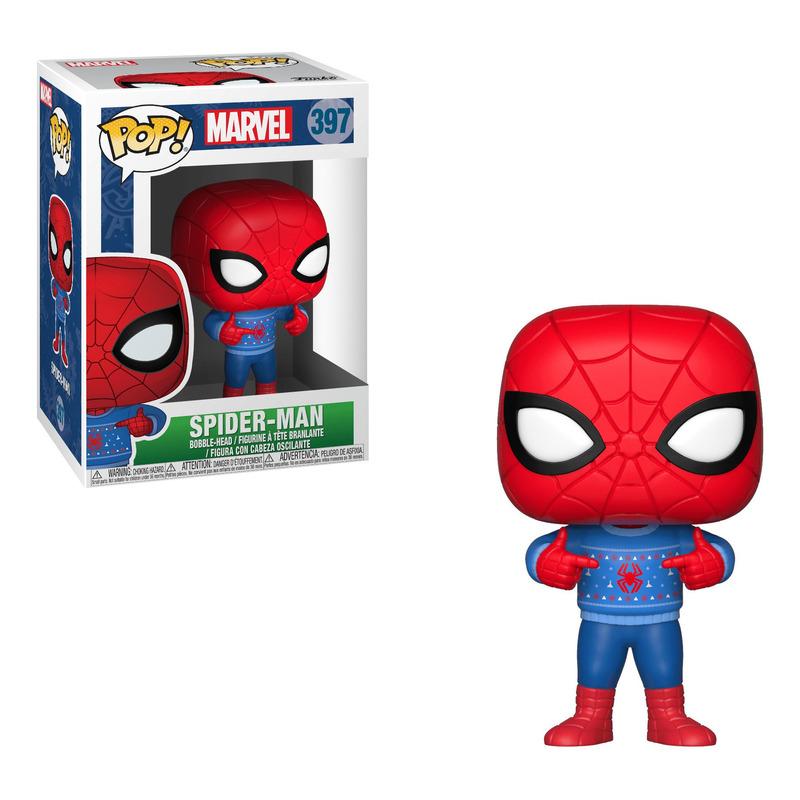 Holiday Spider-Man Pop Funko #397 - Spider-Man com Sweater - Marvel