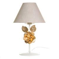 Abajur Metal Flor Grande Dourada