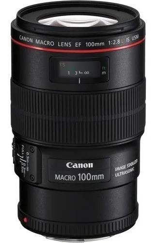Canon Macro 100mm 2.8 L Is Lacrado + Nota Original