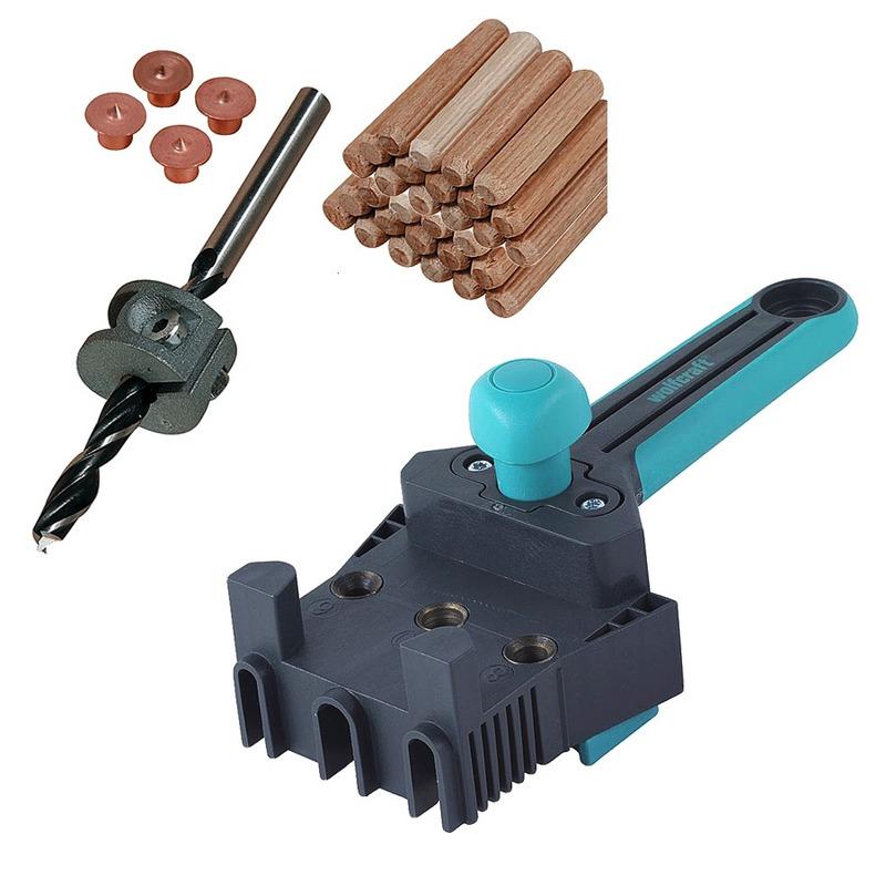 Kit Combo Gabarito para Furação Cavilha 4640 + Conjunto para cavilhar de 6mm 2916 - Wolfcraft
