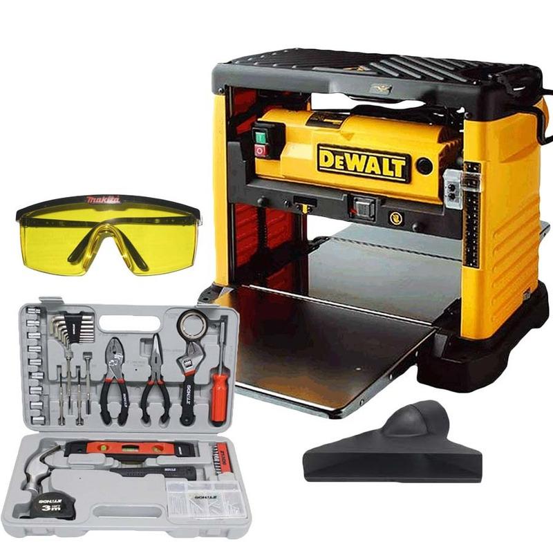 Kit Plaina Portátil 1800W + Coletor de Pó DW733 + Óculos de Segurança 004115-1 + Kit Ferramentas 100 Peças 927.0010-0