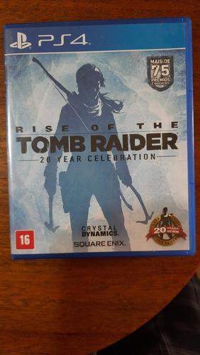 Rise Of The Tomb Raider  Ps4 Mídia Física Cd Usado + Nf Original