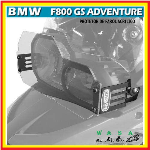 Protetor De Farol Acrilico Bmw F800 Gs F800gs Adv Original