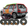 Kit Borrachas Portas Mala Ping Fiat Uno 4 Portas Gp