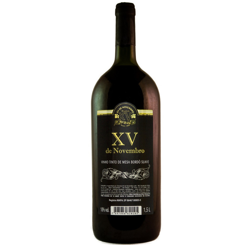 Vinho Tinto Suave Bordô 1,5Li - XV de Novembro