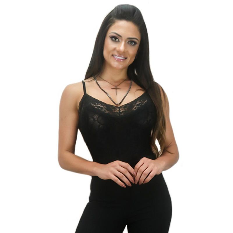 BODY PRETO RENDADO DE ALCINHA - RBL00110
