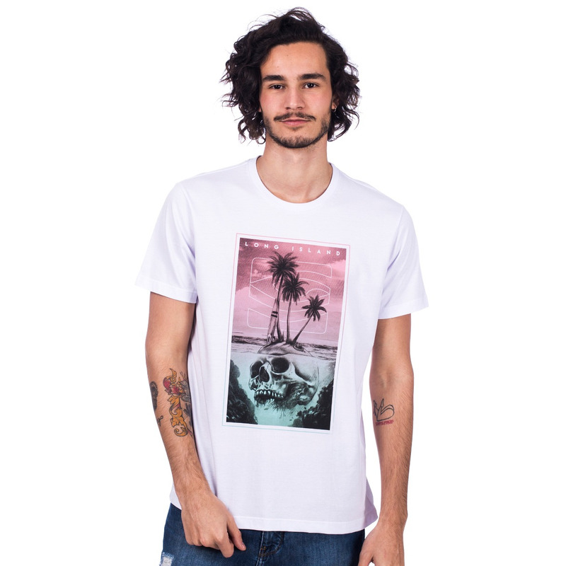 Camiseta Long Island Beach Branca