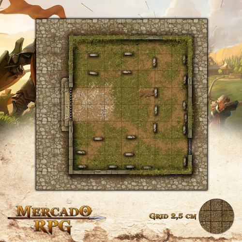 Grid Rpg Dungeons And Dragons Cemitário Menor