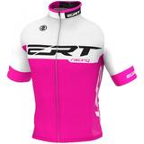 Camisa Ciclismo Mtb Ert Elite Racing Rosa