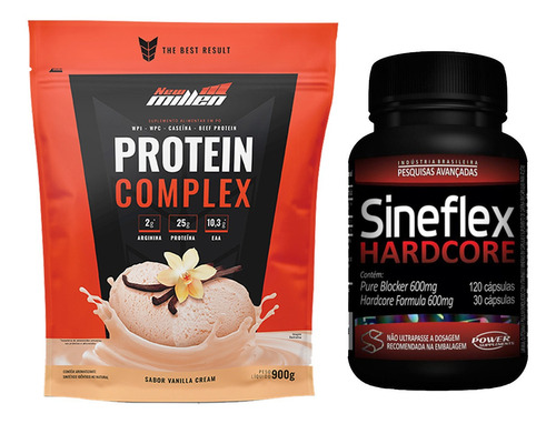Whey Protein Complex 900g + Emagrecedor Sineflex Hardcore Original