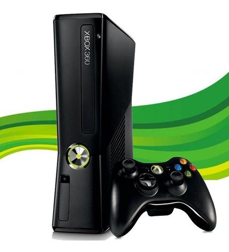 Xbox 360 Slim  + 1 Controle + 1 Jogo  - 12x Original