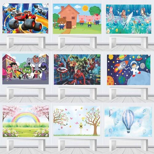 Banner Painel Festa Decorativo 2x1,5 Vários Temas Lona 20e Original