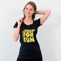 CAMISETA PRETA - JUST FOR FUN