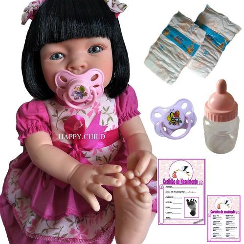 Boneca Bebe Reborn Menina Linda + Barata Do Mundo Confira Original
