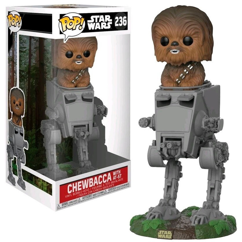 Chewbacca With At-st Pop Funko #236 - Super Sized 15 Cm