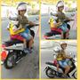 Colete De Segurança Para Criança Andar De Moto Original