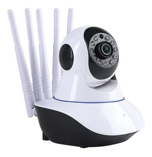 Camera Ip Wifi 5 Antenas Hd 720p C/visão Noturna Audio E Mic Original