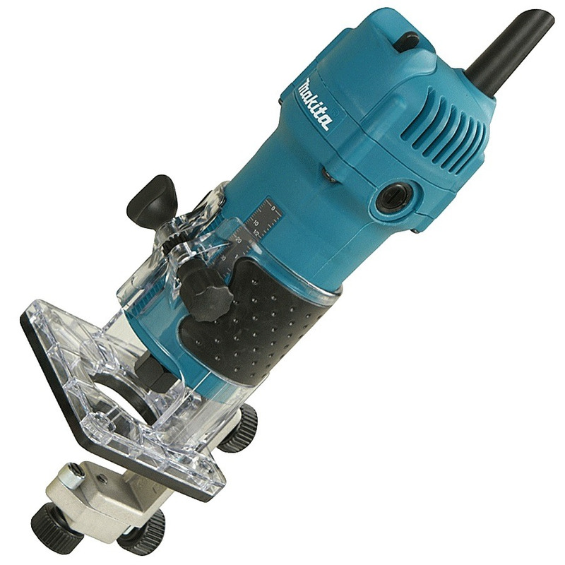 "Kit Tupia 6mm 1/4"" 530 Watts 3709  + Fresa D-09248 - Makita"