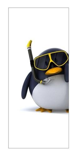 Adesivo Decorativo De Porta - Pinguim - 007mlpt Original